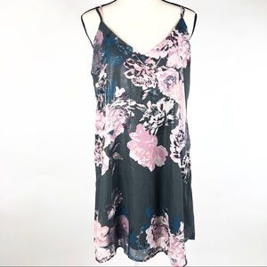 ***3/$30 Gray and Floral mini dress
